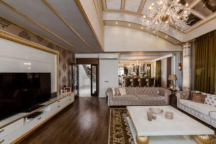 Mimoza Mimarlık – BILGE & AHMET SEZER EVI: klasik tarz tarz Oturma Odası