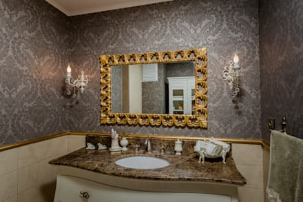 Mimoza Mimarlık – BILGE & AHMET SEZER EVI: klasik tarz tarz Banyo