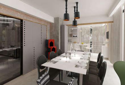 Mimoza Mimarlık – KAPLAN RESIDENCE: modern tarz Yemek Odası