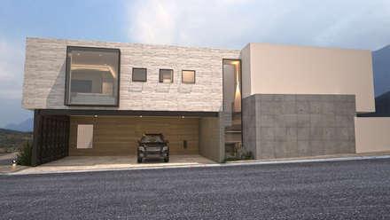 Fachada lateral (terreno en esquina): Casas de estilo moderno por Nova Arquitectura
