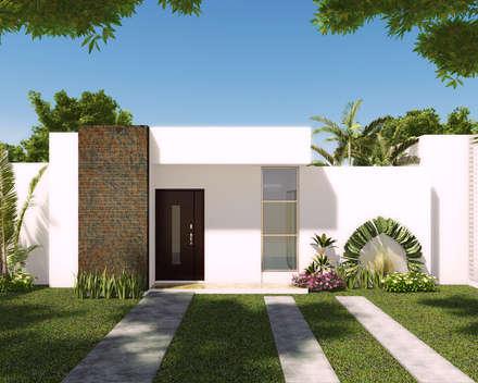 Vivienda tipo II: Casas de estilo moderno por INVERSIONES NACSE S.A.S.