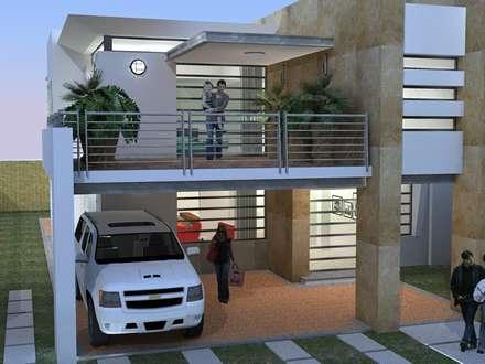 Vista 3D: Casas de estilo moderno por INVERSIONES NACSE S.A.S.