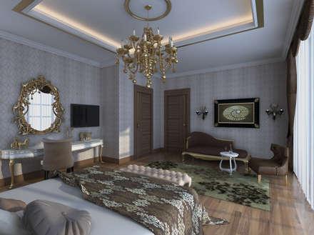 Mimoza Mimarlık – VILLA ZARBIANUS -IRAK: klasik tarz tarz Yatak Odası