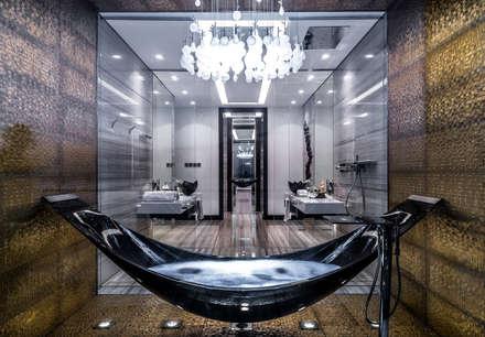 The Island Bathroom : minimalistic Garage/shed by XYZ Designers