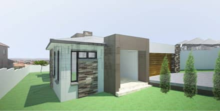 Entrance: modern Houses by A4AC Architects