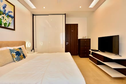 4 bed apartment interior minimalistic bedroom by aum architects - Design Interior Ideas