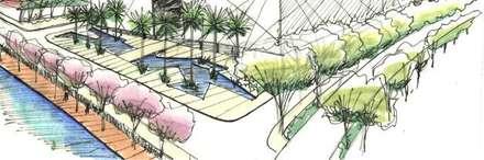 قاعة مؤتمرات تنفيذ ECOSSISTEMAS; Áreas Verdes e Sistemas de Rega.
