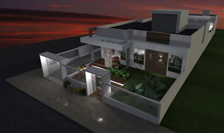 RESIDENCIA J.M: Casas modernas por Daiana Pasqualon Arquitetura & Urbanismo