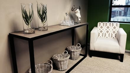 Eco Elementum Office Reception Area:  Commercial Spaces by GSI Interior Design & Manufacture