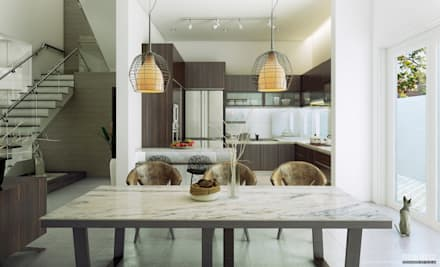 Informal Dining Space: modern Dining room by GSI Interior Design & Manufacture
