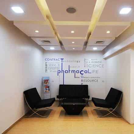 CPC office: modern Study/office by Maulik Vyas Architects