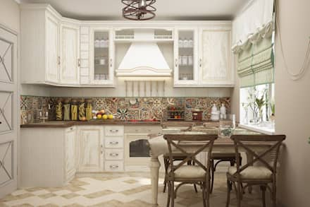 Cocinas de estilo mediterráneo por Студия дизайна Дарьи Одарюк