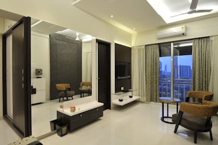 3 Bedroom Mumbai Residence: Modern Dressing Room By Aum Architects Part 18