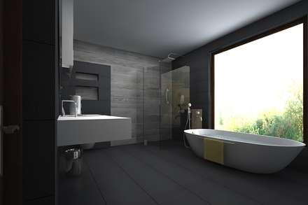 master bathroom: modern Bathroom by A Mans Creation