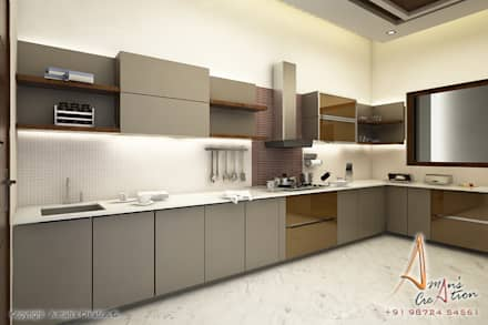 Superbe Kitchen: Modern Kitchen By A Mans Creation
