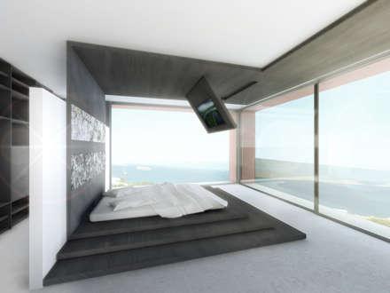 Calo del Real: Dormitorios de estilo minimalista de MG&AG.ARQUITECTOS