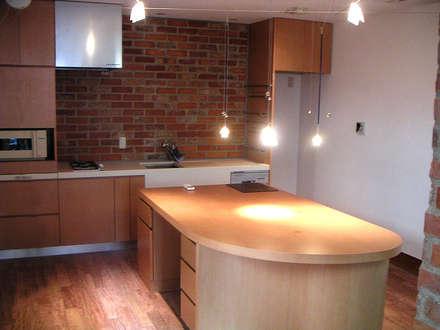 市川T邸: &lodge inc. / 株式会社アンドロッジが手掛けたキッチンです。