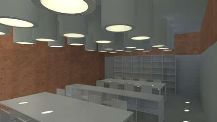 Centro Paroquial de Aguim: Salas multimédia minimalistas por Lousinha Arquitectos