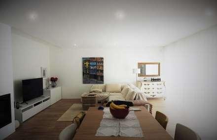 CASA HEITOR: Salas de jantar modernas por Jesus Correia Arquitecto