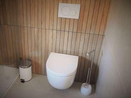 CASA HEITOR: Casas de banho modernas por Jesus Correia Arquitecto
