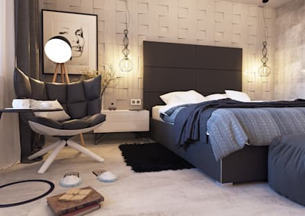 industrial Bedroom by SKILL