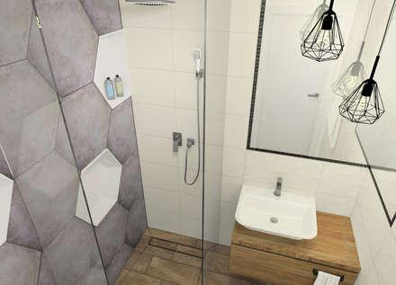 Mała łazienka w domu jednorodzinnym: styl , w kategorii Łazienka zaprojektowany przez Esteti Design