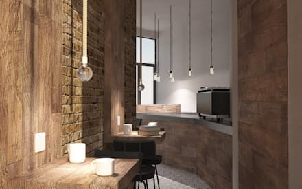 Press Coffee | Bride Street: Bar & Club in stile  di OverAlls architecture