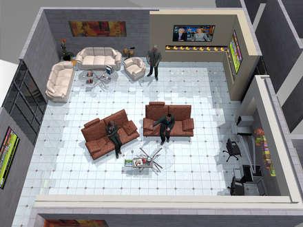 Salones de eventos de estilo  por HC Arquitecto