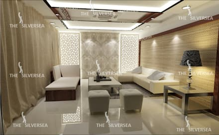 Interior Designs: modern Living room by The Silversea