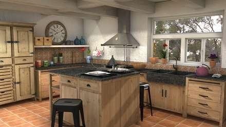 cozinhas r sticas ideias e inspira es homify. Black Bedroom Furniture Sets. Home Design Ideas