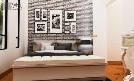 Cuarto de Visitas: Recámaras de estilo minimalista por SANT1AGO arquitectura y diseño