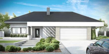 Projekt domu HomeKONCEPT-38: styl nowoczesne, w kategorii Domy zaprojektowany przez HomeKONCEPT | Projekty Domów Nowoczesnych