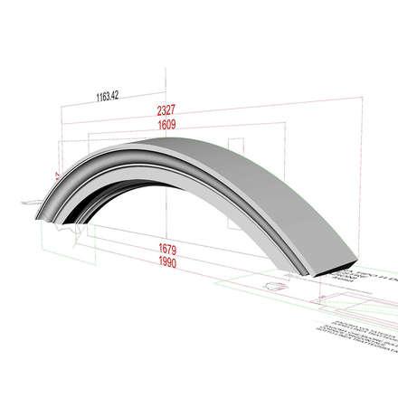 Disegno tecnico dell'arco soprafinestra: Scuole in stile  di Eleni Decor