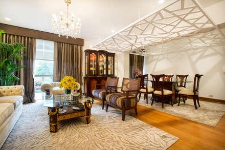 Sala principal / comedor: Salas / recibidores de estilo ecléctico por Carughi Studio