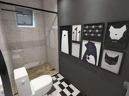 lavabo: Banheiros escandinavos por Studio M Arquitetura