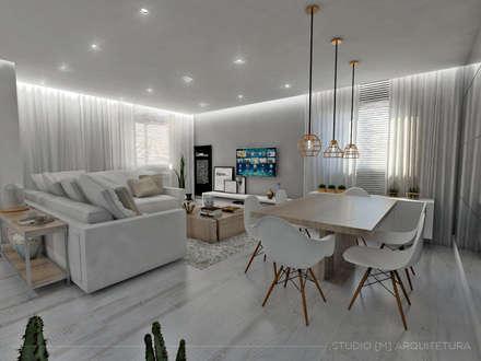 Sala de Jantar: Salas de jantar escandinavas por Studio M Arquitetura