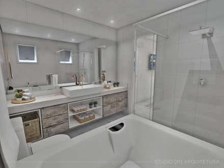 scandinavian Bathroom by Studio M Arquitetura
