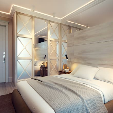 Tender Contemporary Provence Москва: Спальни в . Автор – IK-architects