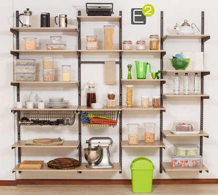 Despensa: Cocinas de estilo moderno por Espacio al Cuadrado