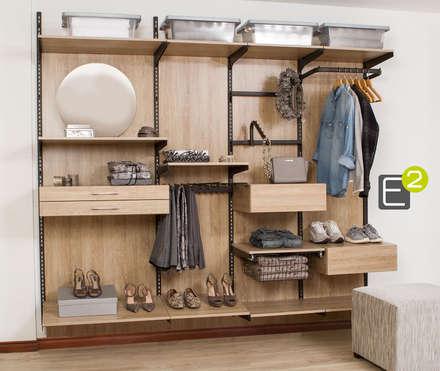 vestier closet vestidores de estilo moderno por espacio al cuadrado