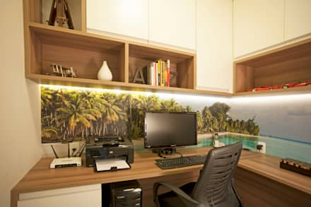 modern Study/office by  Spelzon Lima Arquitetura e Interiores