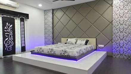 MR. Sanjay : modern Bedroom by Shadab Anwari & Associates.