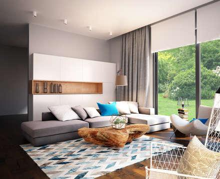 industrial Living room by GraniStudio