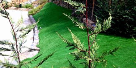 creación de talud con césped artficial en Girona: Jardines de estilo clásico de ecojardí