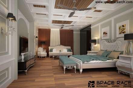 Residence at Lajpat Nagar Jalandhar (Bantu Sabhawal): classic Bedroom by Spacerace
