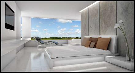 Casa Nordelta : Dormitorios de estilo minimalista por LIMMIT