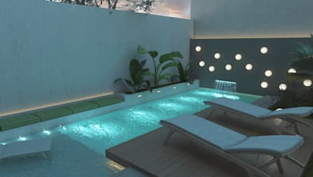modern Pool by FILIPPIS/DIP - DISEÑO Y CONSTRUCCION