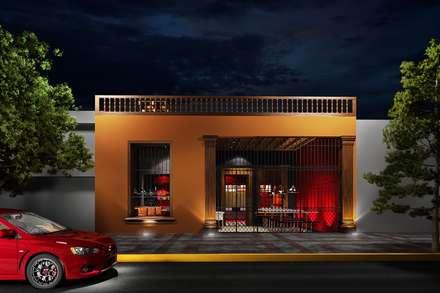KFC BARRANCO: Espacios comerciales de estilo  por ARKILINEA