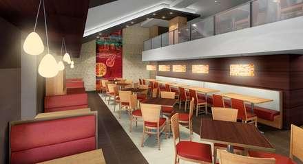 PIZZA HUT ESPINAR: Comedores de estilo moderno por ARKILINEA