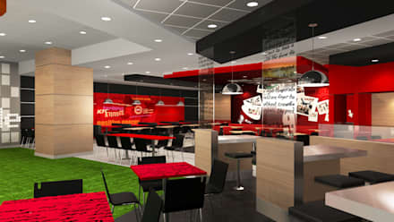 KFC FOOD COURT TRUJILLO: Espacios comerciales de estilo  por ARKILINEA